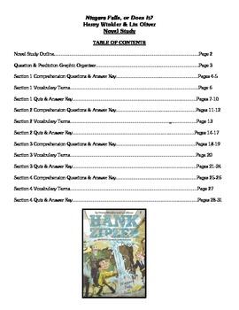 Niagara Falls, or Does It? (Winkler & Oliver) - Novel Study