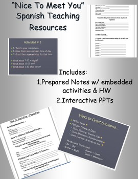 Nice To Meet You Notes Resource Set