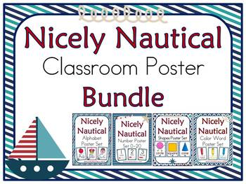 Nicely Nautical Classroom Décor Poster Bundle