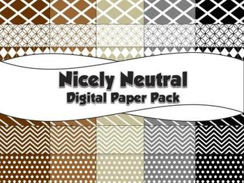 Neutrals Digital Paper Pack