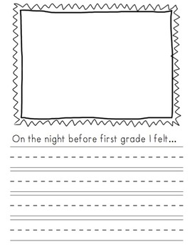 Night Before First Grade Writing