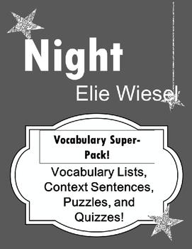 Night Elie Wiesel Vocabulary Super Pack