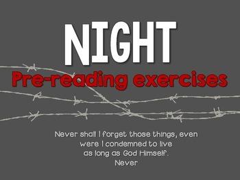 Night by Elie Wiesel: Pre Reading Activities