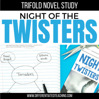 Night of the Twisters Foldable Novel Study Unit