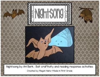 Nightsong Bat Craft and Literacy Activities ~ Reading Response