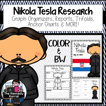 Nikola Tesla {Biography Research Trifold, Scientist}