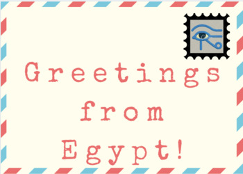 Nile River / Egypt  Postcard Template