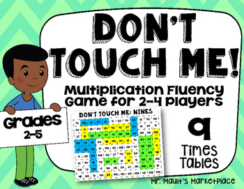 Nines Times Tables: Don't Touch Me! Multiplication Fact Fl