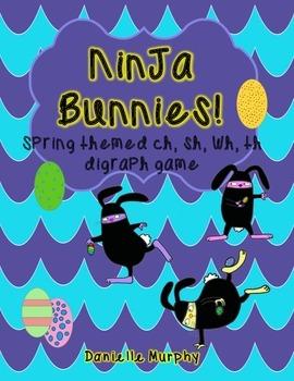 Ninja Bunnies Spring Theme Digraph Practice Game