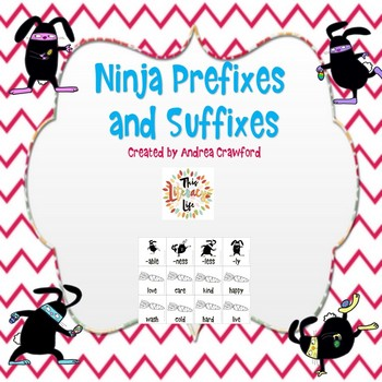 Ninja Bunny Prefixes and Suffixes Activity {Great for Centers
