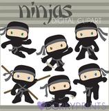 Ninja Clip Art - Boy Ninjas