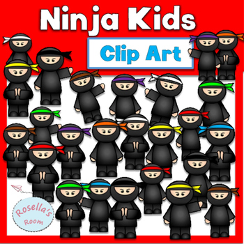 Ninja Kids Clip Art