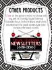 Ninja Newsletter Freebie {Editable Black & White AND Color