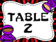Ninja Themed Group/Table Signs