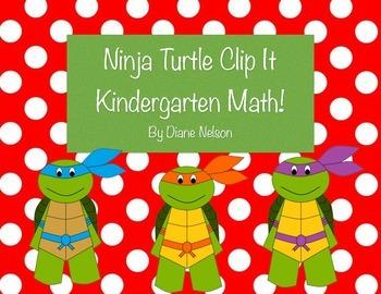 Ninja Turtle Clip it Kindergarten Math, addition, counting