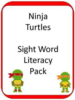 Ninja Turtle Sight Word ELA CENTER GAMES