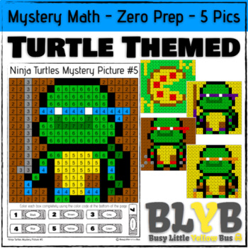 Ninja Turtle Themed Mystery Math (Number Recognition) NO P