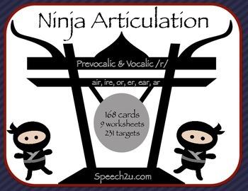 Ninja articulation: prevocalic and vocalic /r/