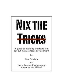 Nix The Trix: A  Free E-Book about Problems with Mathemati