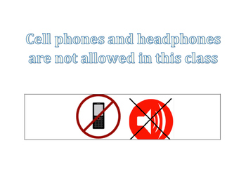 No Cell Phone or Headphones Poster