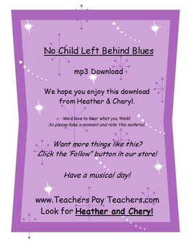 No Child Left Behind Blues MP3 (ForTeachersEarsOnly-SongsF