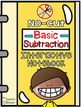 No-Cut Interactive Notebook {Math}: Basic Subtraction Edition