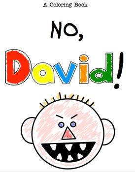 No, David! ~ A Coloring Book
