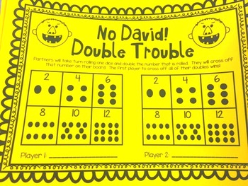 No David! Double Trouble Math Game