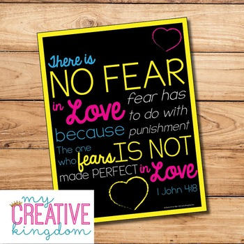 No Fear Poster Freebie