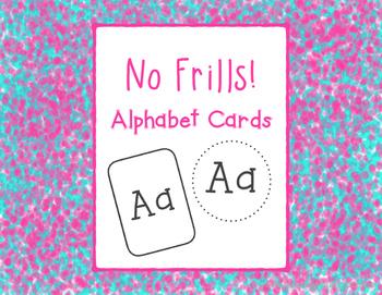 No Frills! Alphabet Cards