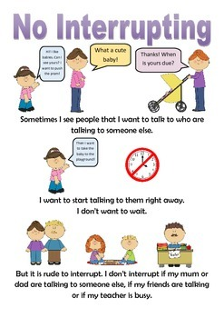 No Interrupting Social Story