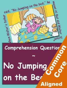 No Jumping on the Bed Reading Comprehension Worksheets for