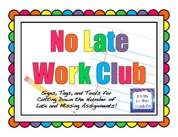 Homework Management - No Late Work Club