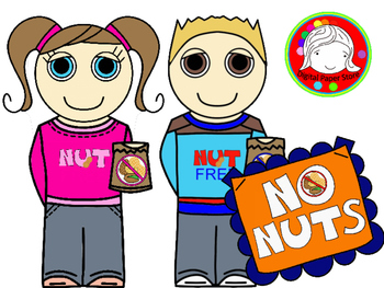 No NUTS! Signs, Kids, and More Clipart (Personal & Commerc