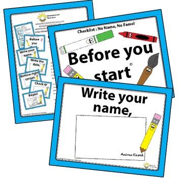 No Name, No Fame! Before You Start Visual Checklist Elemen