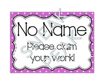 No Name Poster (polka dot)