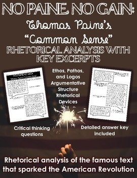 No Paine, No Gain: A Rhetorical Analysis of Thomas Paine's