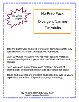 "No Prep 30 Minute Therapies ""What Do These Have In Common?"