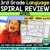 3RD GRADE Homework Morning Work for LANGUAGE & GRAMMAR - A