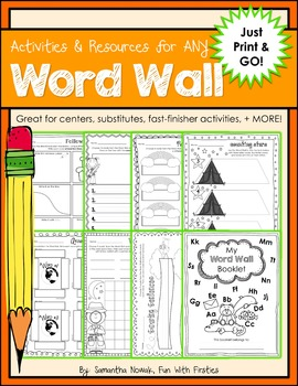 No-Prep Activities & Resources for ANY Word Wall ...just ""