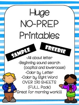 No Prep Alphabet Bundle