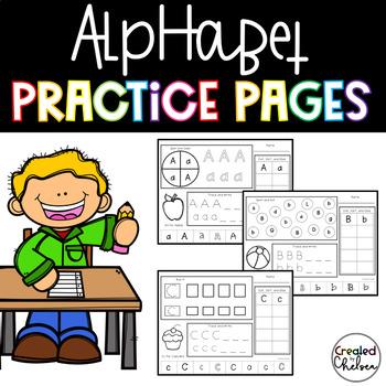 No Prep Alphabet Practice Pages