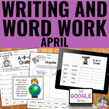 NO PREP April Writing and Word Work Package