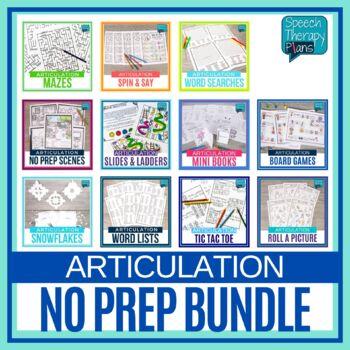 No Prep Articulation Bundle