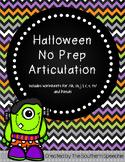 No Prep Articulation {Halloween}