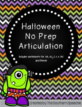 Halloween No Prep Articulation