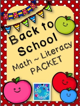 No Prep!  Back to School Math and Literacy ~ FREEBIE