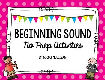 No Prep Beginning Sounds Activities