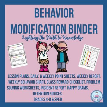 Character Education:Behavior Modification Binder (Grades 4