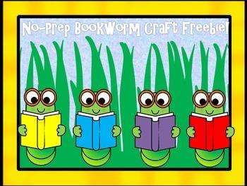 No-Prep Bookworm Craft Freebie!